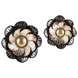 Lexlin Metal Wall Flowers - Set of 2