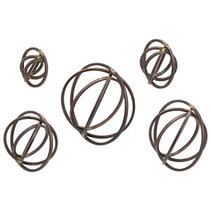 Spheres Metal Wall Decor - Set of 5