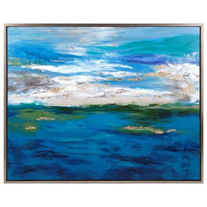 IMAX Worldwide Home Wall Art Circadian Framed Oil Painting