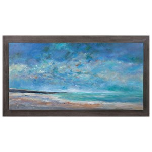 IMAX Worldwide Home Wall Art Sea of Dreams Wood Framed Oil Painting