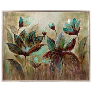 IMAX Worldwide Home Wall Art Fragrant Bloom Framed Oil Painting