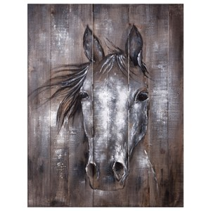 IMAX Worldwide Home Wall Art Whistle Framed Oil Painting