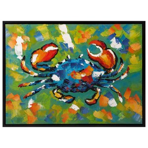 IMAX Worldwide Home Wall Art Crabby Framed Oil Painting