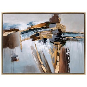 IMAX Worldwide Home Wall Art Concurrent  Framed Oil Painting