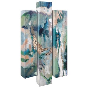 IMAX Worldwide Home Wall Art Serene Aura Oil Paintings - Set of 3