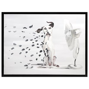 IMAX Worldwide Home Wall Art Pongo Spots Oil Painting