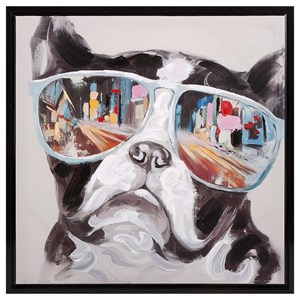 IMAX Worldwide Home Wall Art City Shades Dog Framed Canvas
