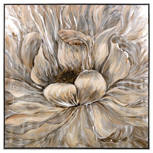 IMAX Worldwide Home Wall Art Dhalia Oil Painting with Frame