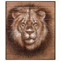 IMAX Worldwide Home Wall Art Cecil Lion Oil Painting on Wood - Item Number: 82524