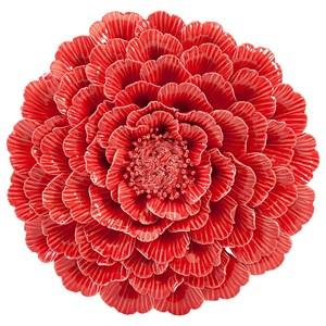 IMAX Worldwide Home Wall Art Kastania Porcelain Wall Flower