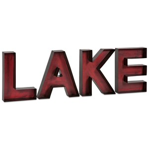 IMAX Worldwide Home Wall Art Lake Metal Wall Letters