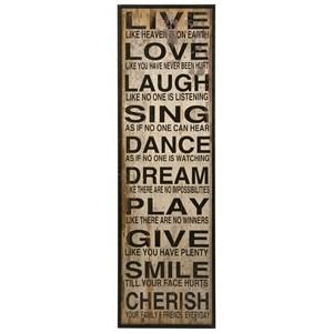 IMAX Worldwide Home Wall Art Live Love Laugh Wall Decor