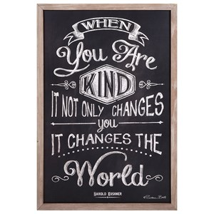 IMAX Worldwide Home Wall Art Kindness Changes the World Wall Decor
