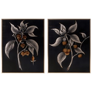 IMAX Worldwide Home Wall Art Ebina Framed Oil Paintings - Ast 2