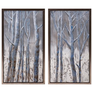 IMAX Worldwide Home Wall Art Frosted Framed Oil Painting on Metal - Ast 2