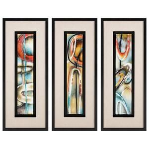 IMAX Worldwide Home Wall Art Maheloas Framed Glass Wall Decor - Ast 3