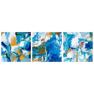 IMAX Worldwide Home Wall Art Jubilant Hues Oil Paintings - Ast 3