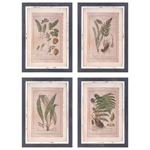 IMAX Worldwide Home Wall Art Botanical Print Wall Decor - Ast 4