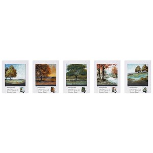 IMAX Worldwide Home Wall Art Mini Canvas with Easels, Individually Gift B