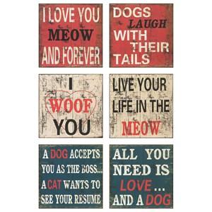 IMAX Worldwide Home Wall Art Dogs Wall Decor - Ast 6