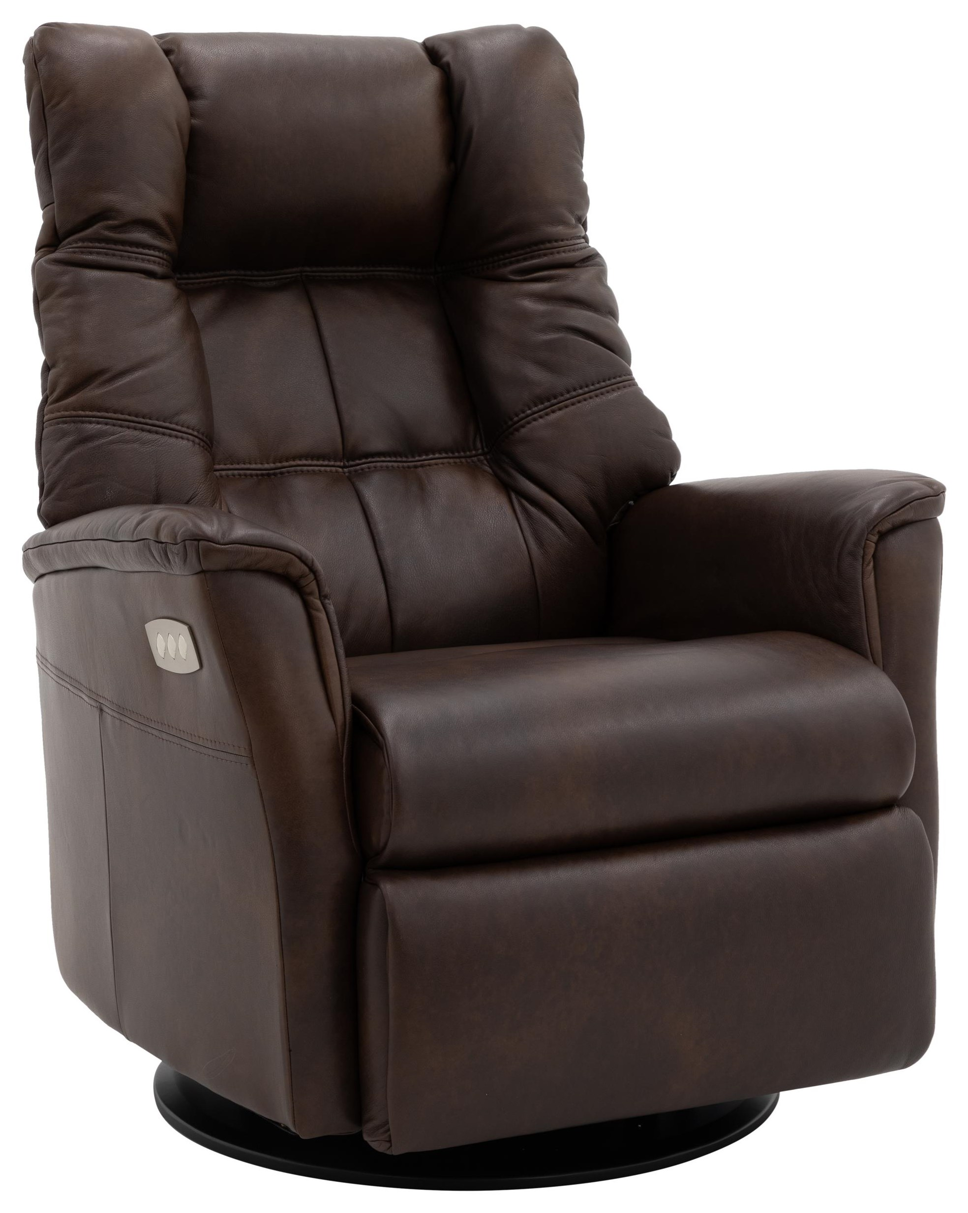 BOSTON Triple PWR Large Leather Recliner (Truffle) by Norwegian Comfort at Walker's Furniture