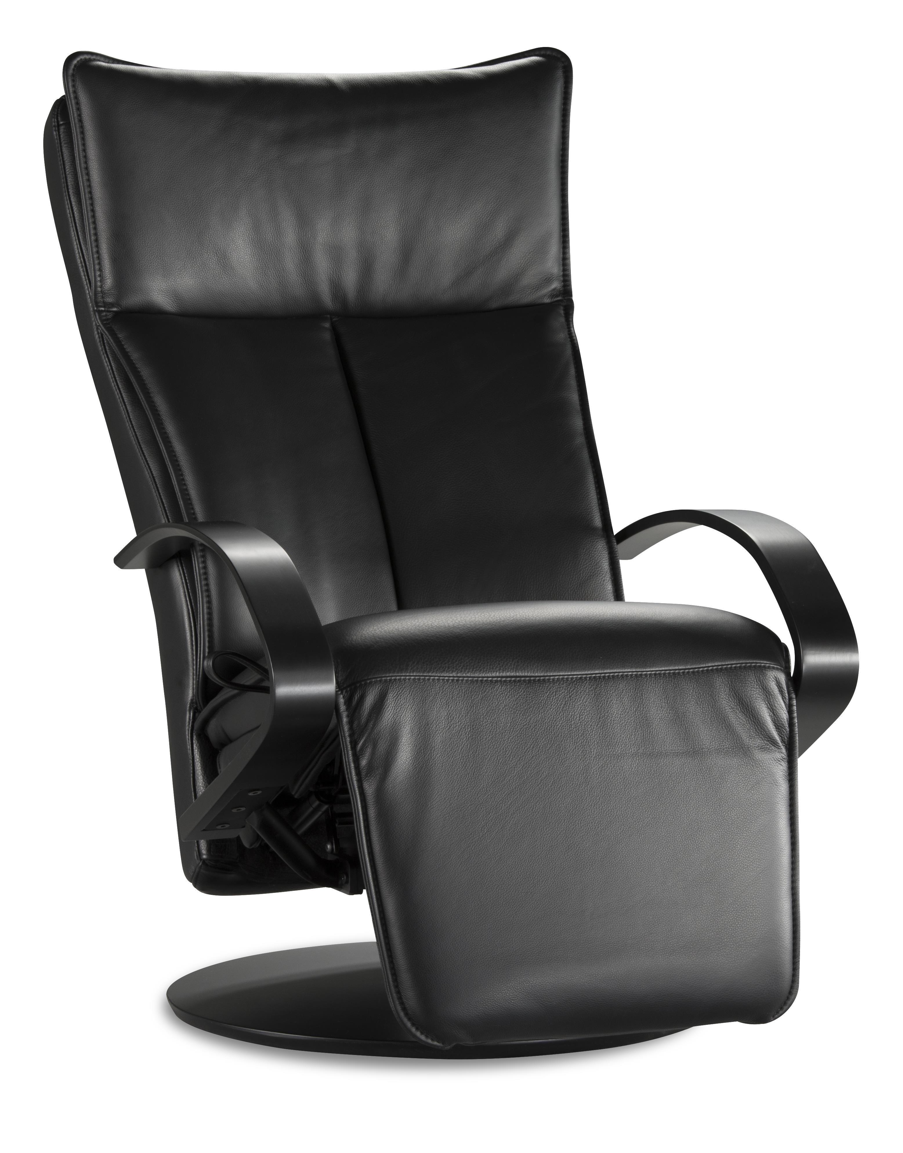 IMG Norway 2500 Elite Black Leather Recliner - Item Number: 2500