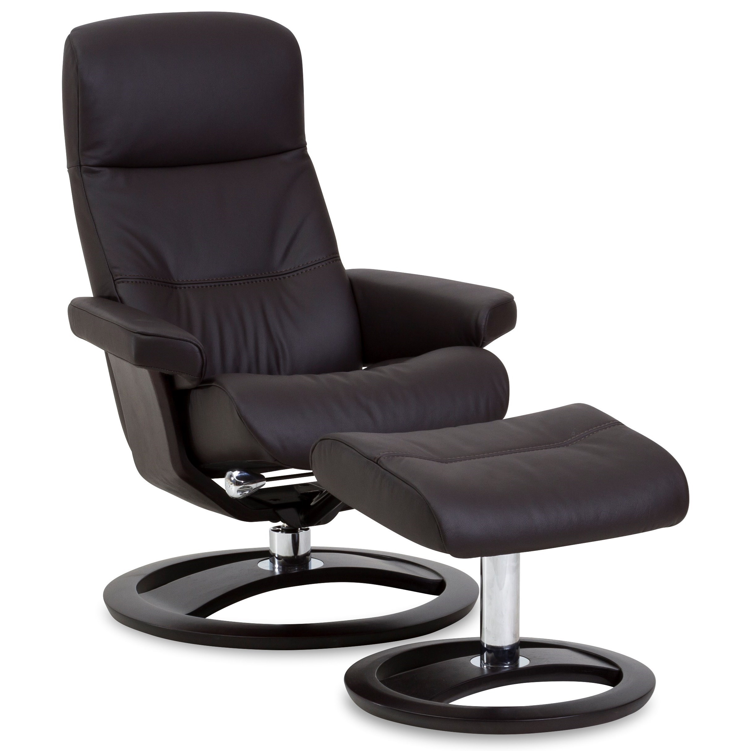 IMG Norway Regal Small Golf Scandinavian Recliner and Ottoman
