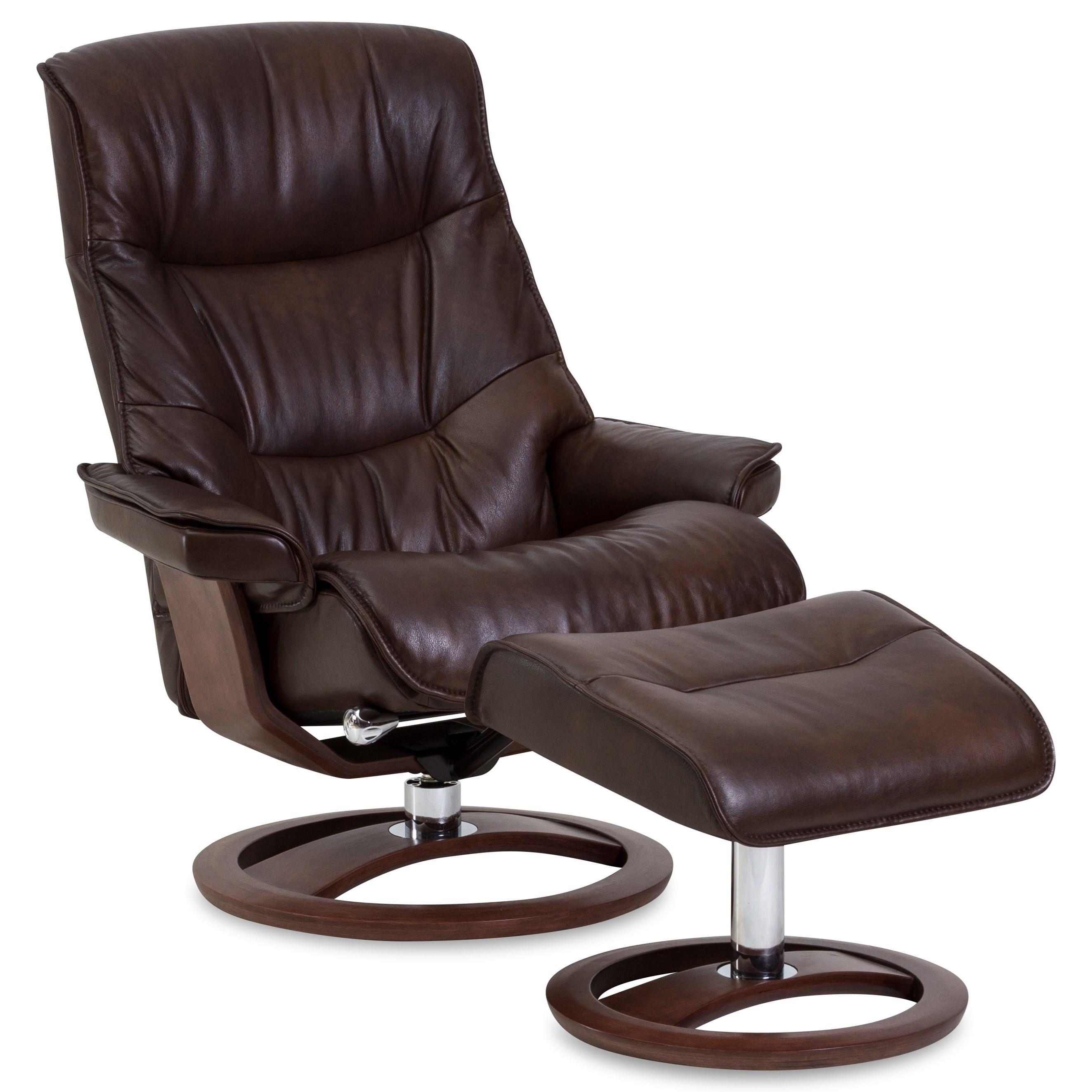 Movies black leatherette cushion swivel recliner malayali