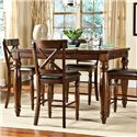Belfort Select River Run Counter Height Gathering Table with Butterfly Leaf
