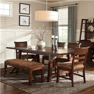 Intercon Bench Creek 5-Piece Dining Set