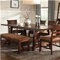 Intercon Bench Creek Dining Table - Item Number: BK-TA-40104-RPN-BSE+TOP