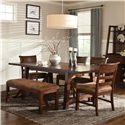Intercon Bench Creek 6Pc Dining Room - Item Number: BK6PC