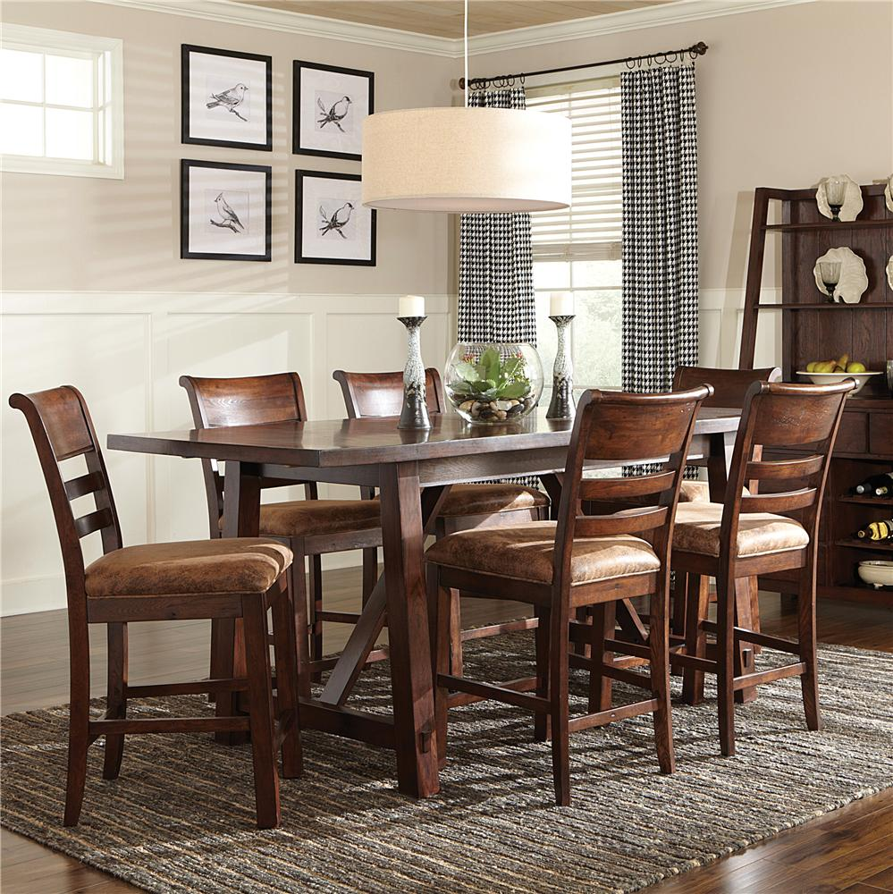 Intercon Bench Creek 7Pc Counter Height Dinette - Item Number: BK7PCCOUNTER