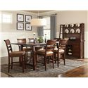Intercon Bench Creek 7Pc Counter Height Dinette