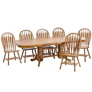Intercon Classic Oak 7Pc Formica Top Dining Room