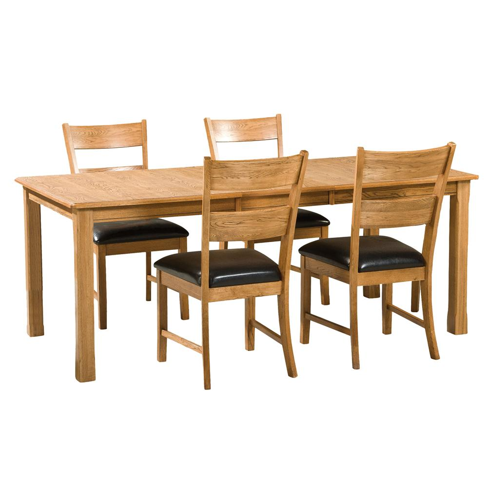 Intercon Family Dining 5Pc Dining Room - Item Number: FD-TA-L3678-CNT-C+4xCH-169C