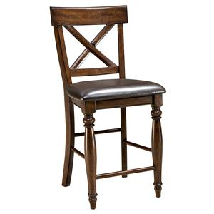 "Intercon Kingston  24"" X-Back Barstool"