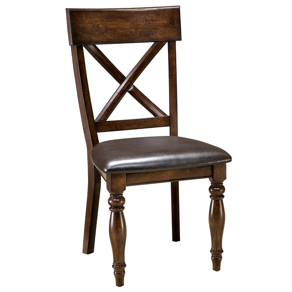 Intercon Kingston  X-Back Side Chair - Item Number: KG-CH-735C-RAI
