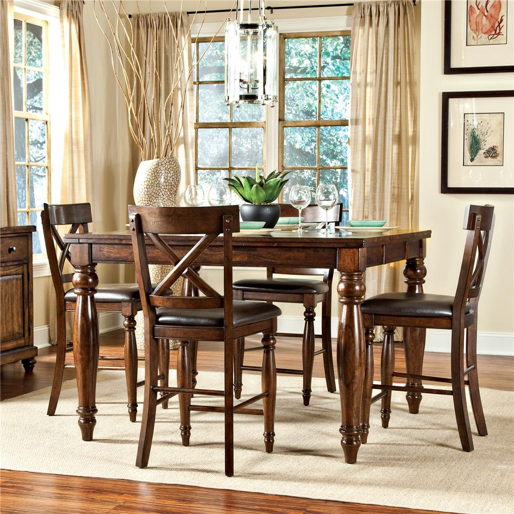 Intercon Kingston  7Pc Counter Height Dinette - Item Number: KGC7PC