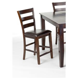 Intercon Kona Ladderback Upholstered Barstool
