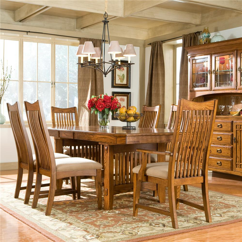 Intercon Pasadena Revival  5Pc Dining Room - Item Number: PR-TA-42106-T/B+CH-1050-CX4