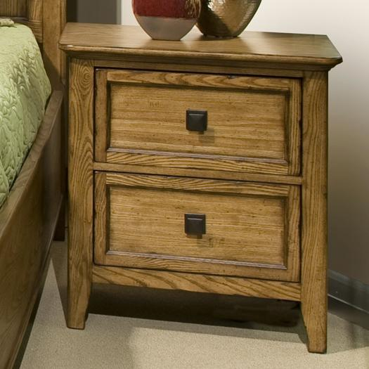 Intercon Alta 2-Drawer Nightstand - Item Number: AL-BR-5302-BAS-C