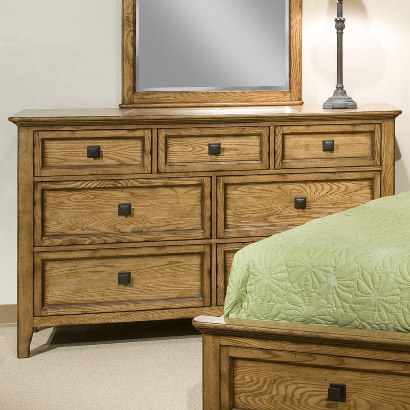 Intercon Alta 7-Drawer Dresser - Item Number: AL-BR-5307-BAS-C