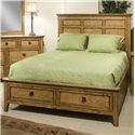 Intercon Alta King Storage Bed-STOCK ONLY - Item Number: AL-BR-5350KS-HB+FR+RS