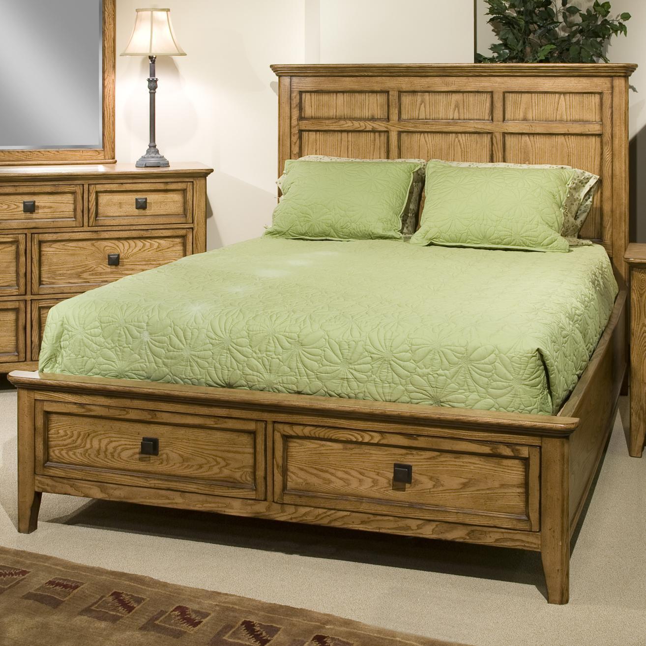 Intercon Alta Queen Storage Bed - Item Number: AL-BR-5350QS-HB+FR+RS