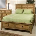 Intercon Alta Queen Low-Profile Bed with Footboard Storage Drawers - Bed Shown May Not Represent Size Indicated