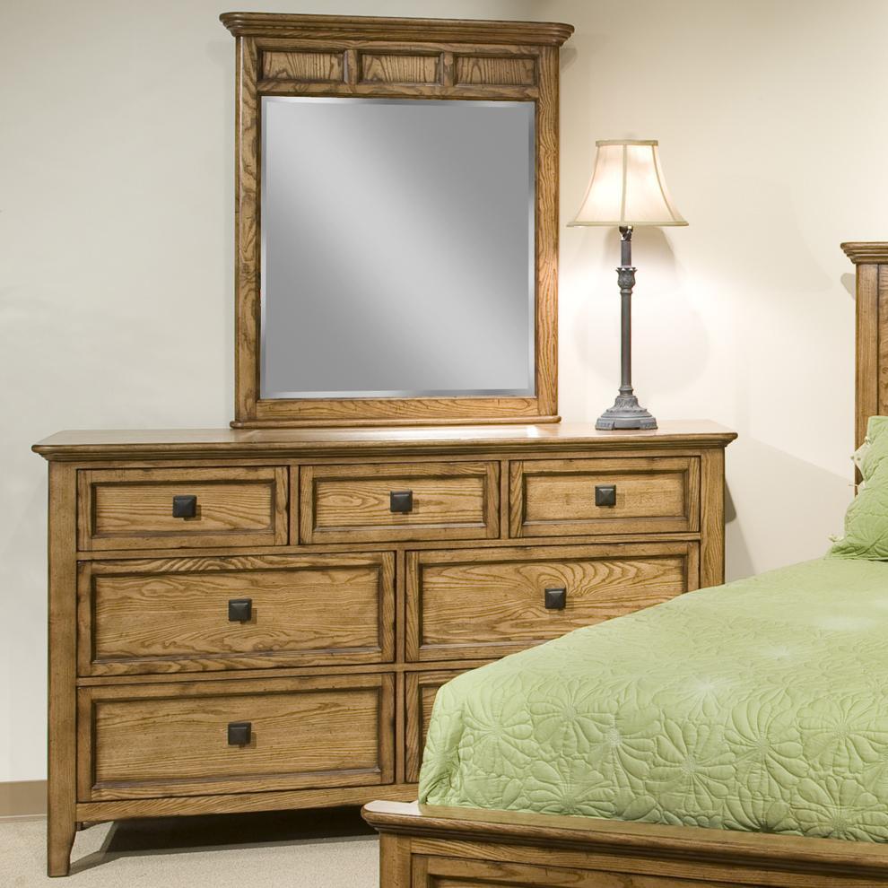 Intercon Alta Dresser & Mirror Set - Item Number: AL-BR-5370+5391