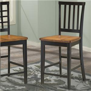 Intercon Arlington Slat Back 30 Inch Stool