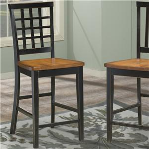 Intercon Arlington Lattice Back 24 Inch Bar Stool