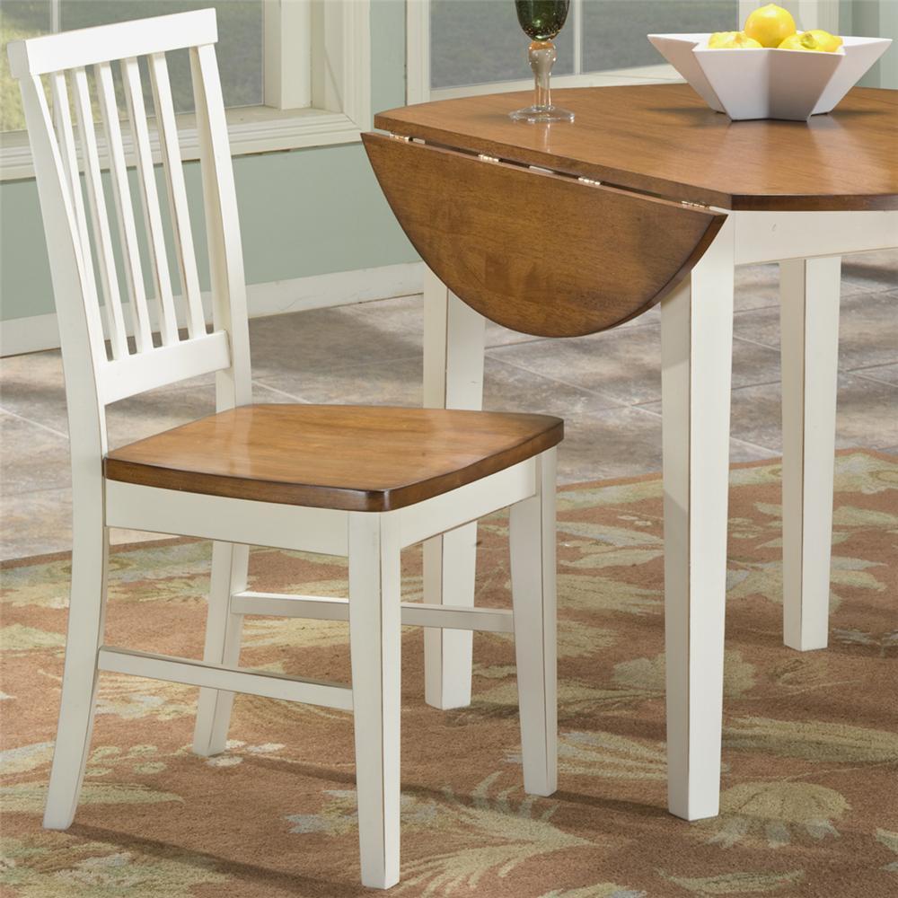 Intercon Arlington Slat Back Side Chair - Item Number: AR-CH-180-XXX-RTA-WHJ